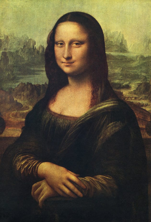 The smile of Leonardo Da Vinci's 'Mona Lisa' depends on the mood of the person looking at it