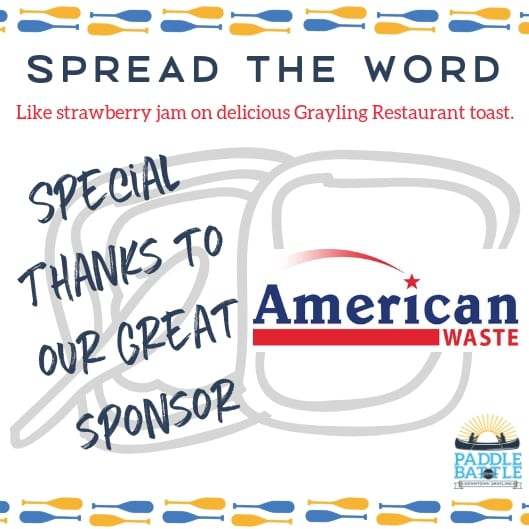 Sponsor Alert! THANK YOU American Waste!