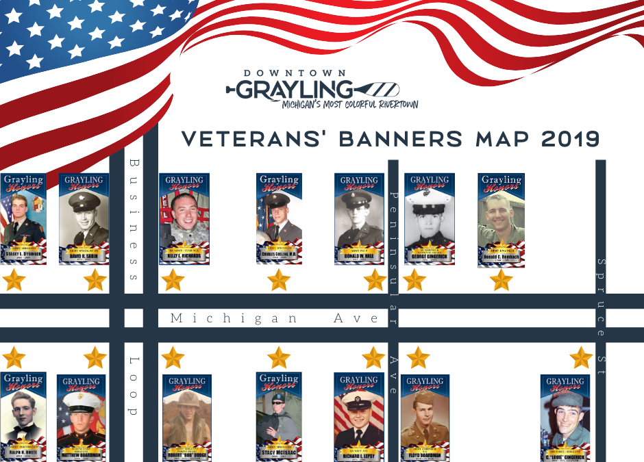 2019 Veteran Banners on Michigan Ave