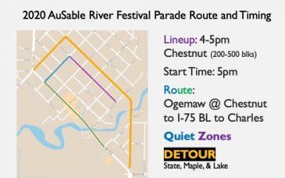 AuSable River Festival Parade – New Route