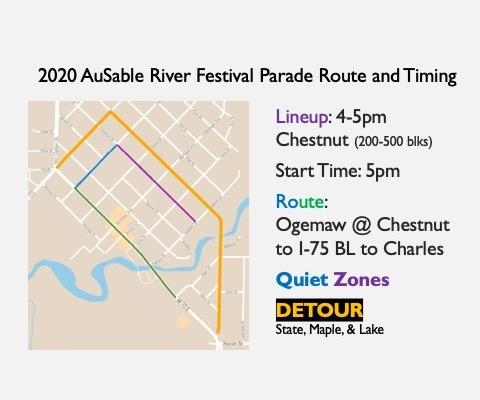 AuSable River Festival Parade – New Route